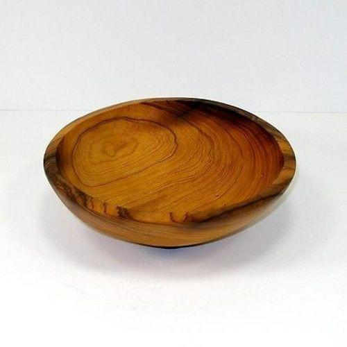 7.5-Inch Hand-carved Olive Wood Bowl Handmade and Fair Trade