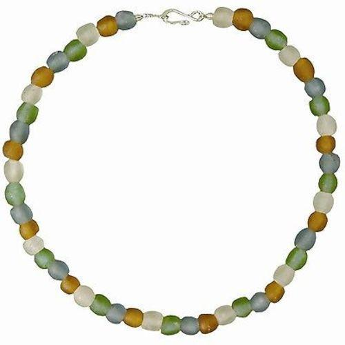 Rainbow Pearl Glass Bead Necklace Handmade and Fair Trade