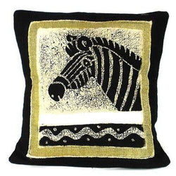 Handmade Black and White Zebra Batik Cushion Cover Handmade and Fair Trade