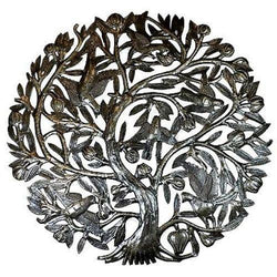 Tree of Life with Buds 24-inch Metal Wall Art Handmade and Fair Trade