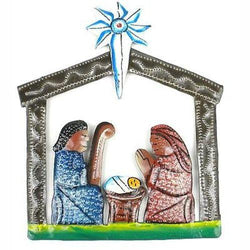 Mini Painted Recycled Steel Drum Nativity Scene Handmade and Fair Trade
