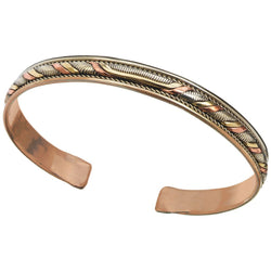 Copper and Brass Cuff Bracelet: Healing Twist