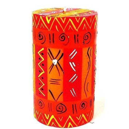 Single Boxed Hand-Painted Pillar Candle - Zahabu Design Handmade and Fair Trade
