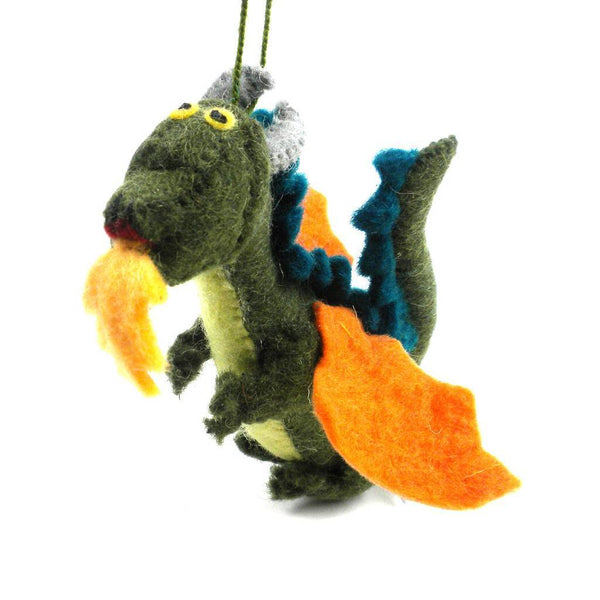 Felt Dragon Ornament - Silk Road Bazaar (O)