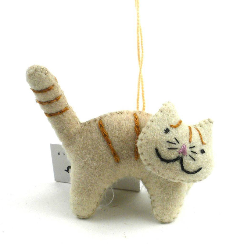 Felt Cat Ornament - Silk Road Bazaar (O)