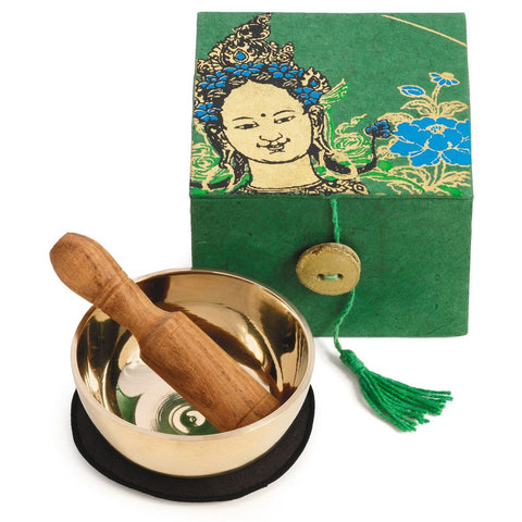 Image of Meditation Bowl Box: 3'' Green Tara - DZI (Meditation)