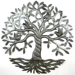 Twisted Tree of Life Metal Wall Art - Croix des Bouquets