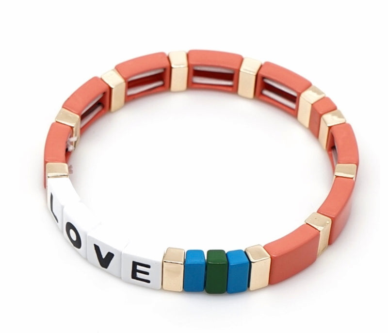 MADE WITH LOVE enamel bracelet
