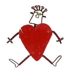 Dancing Girl Heart Pin Handmade and Fair Trade