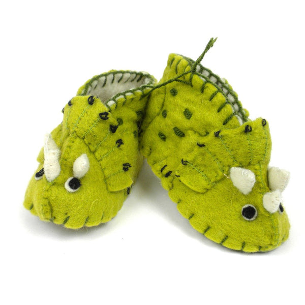 Wayuu bags - Baby Triceratops Booties - Putchipuu - Colombian Artisans, handmade, Baby Apparel And Booties