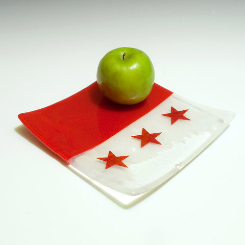 "Washington DC Flag 8"" Slumped Platter"