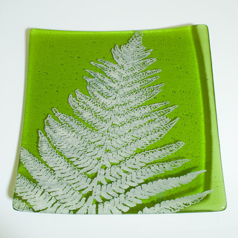 "Leaves 8"" Slumped Platter"