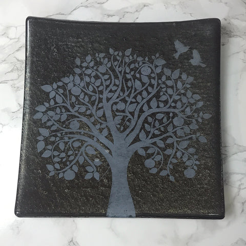 "Tree of Life 8"" Slumped Platter"