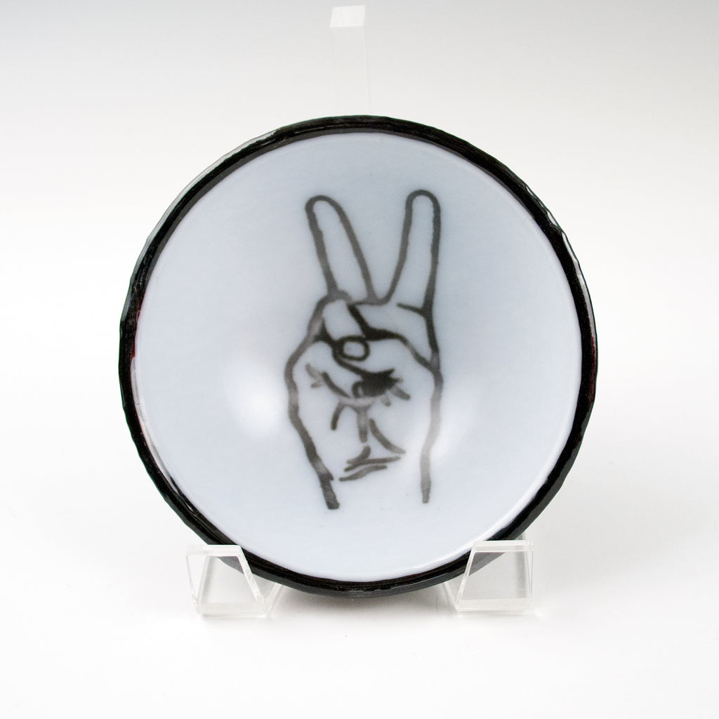 Peace Sign Small Bowl