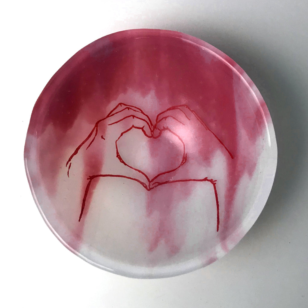 Heart Hands Small Bowl