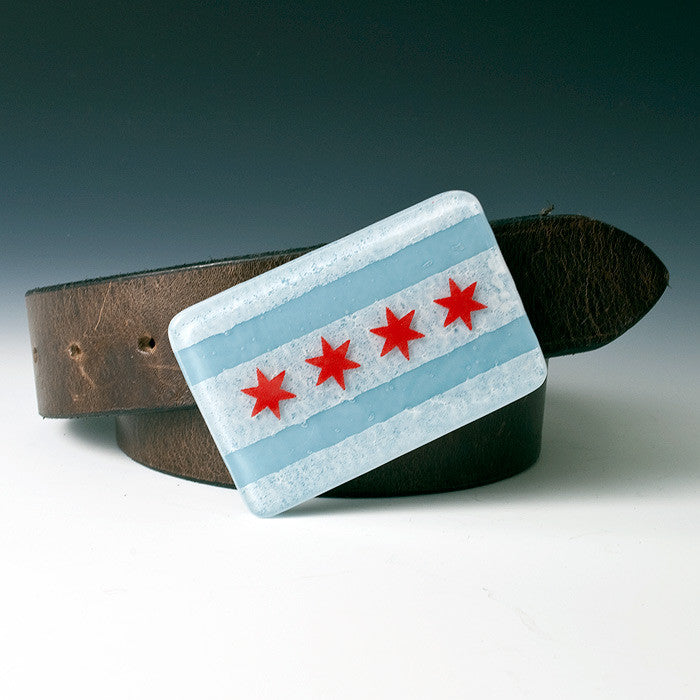 Chicago Flag Buckle