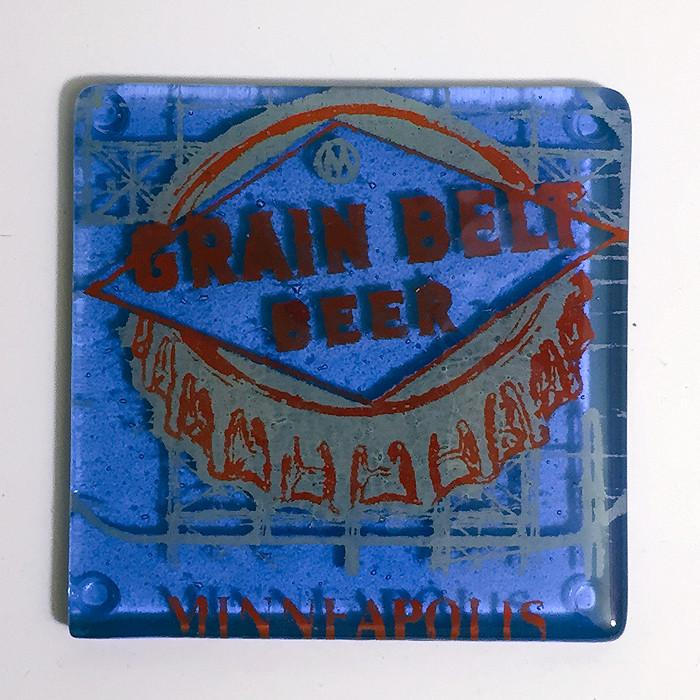 "Minneapolis ""Grain Belt Beer"" Single Coaster"