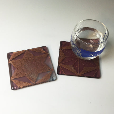 Asanoha Coaster 2-pack