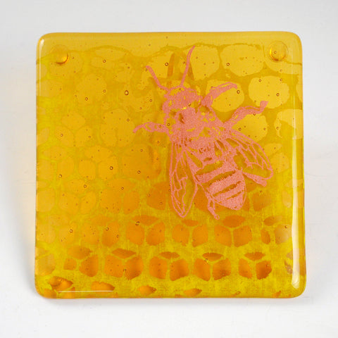 Honeybee Coaster 2-pack