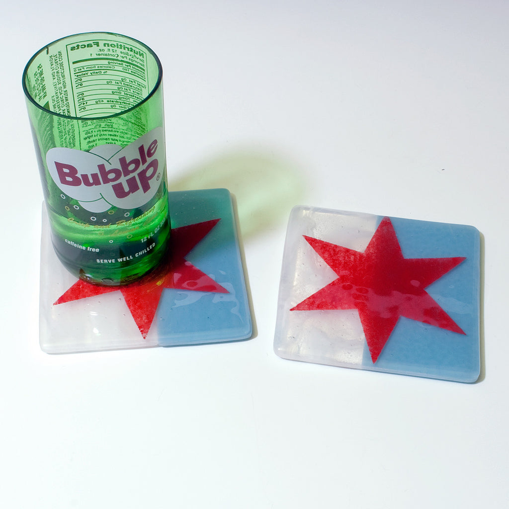 Chicago Flag Coaster 2-pack