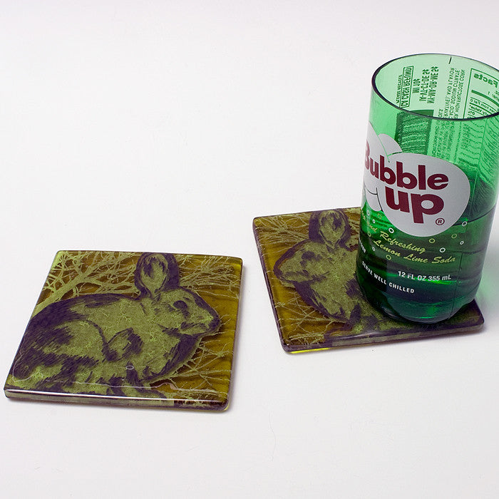 Rabbits Coaster 2-pack