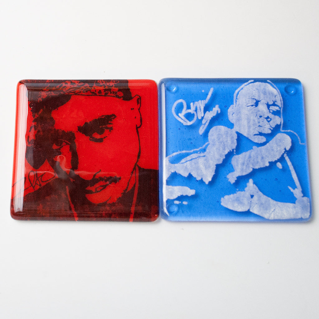 Biggie and Tupac Coaster 2-pack