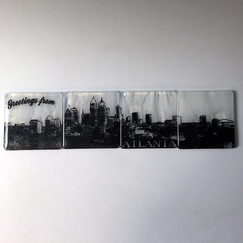 Atlanta Skyline Coaster 4-Pack MADE TO ORDER