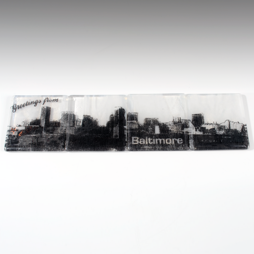 Baltimore Skyline Coaster 4-Pack MADE TO ORDER