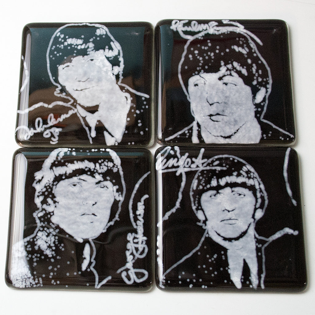 Beatles Coaster 4-pack