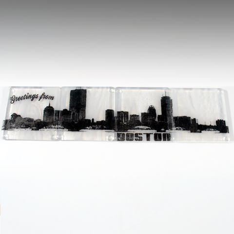 Boston Skyline Coaster 4-Pack MADE TO ORDER