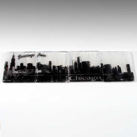 Chicago Skyline Coaster 4-Pack