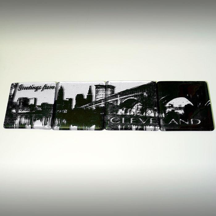 Cleveland Skyline Coaster 4-Pack MADE TO ORDER