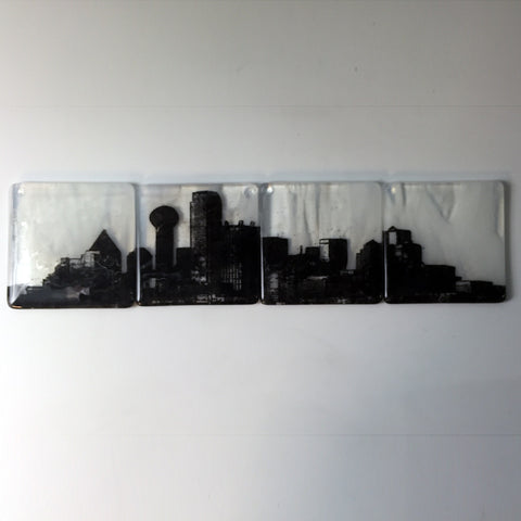 Dallas Skyline Coaster 4-Pack MADE TO ORDER