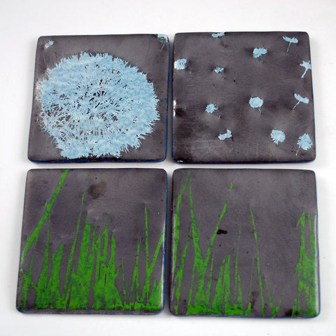 Dandelion Coaster 4-pack