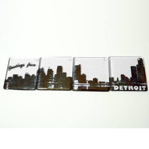 Detroit Skyline Coaster 4-Pack MADE TO ORDER