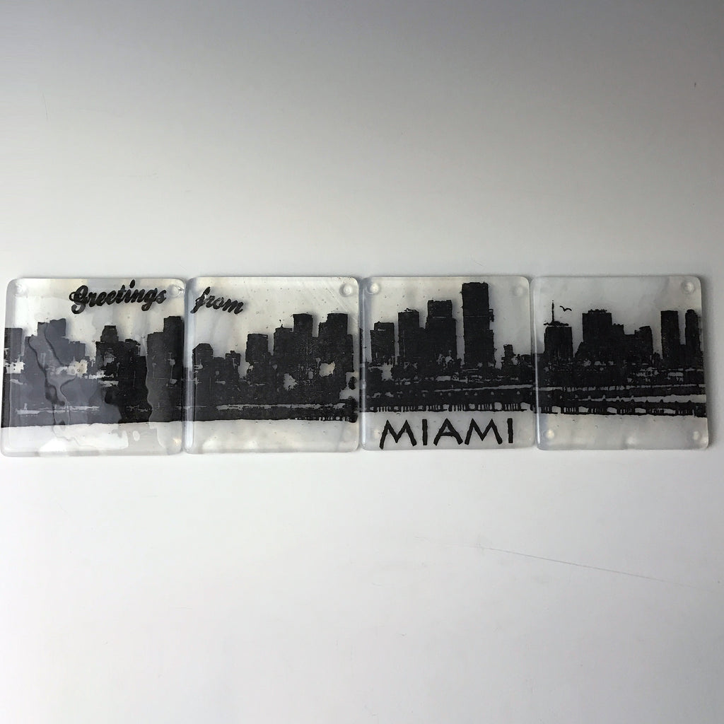 Miami Skyline Coaster 4-Pack MADE TO ORDER