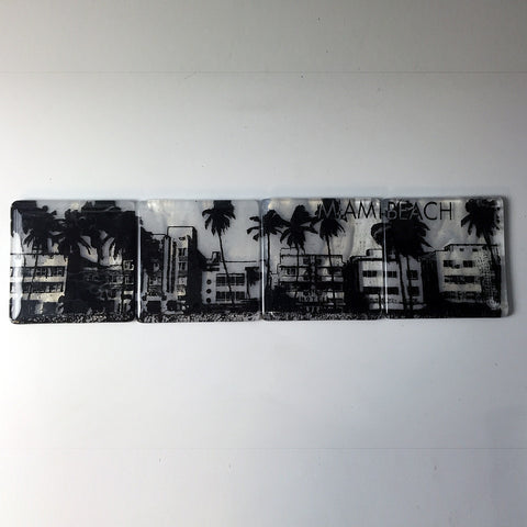 Miami Beach Skyline Coaster 4-Pack MADE TO ORDER