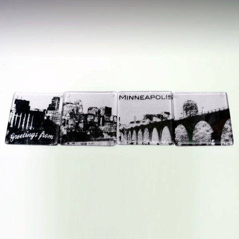 Minneapolis Skyline Coaster 4-Pack MADE TO ORDER