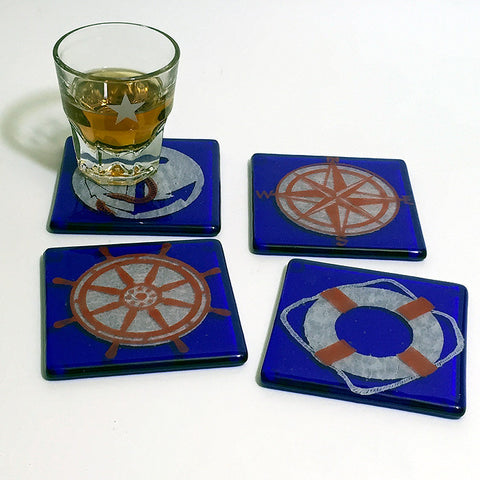Nautical Coaster 4-pack