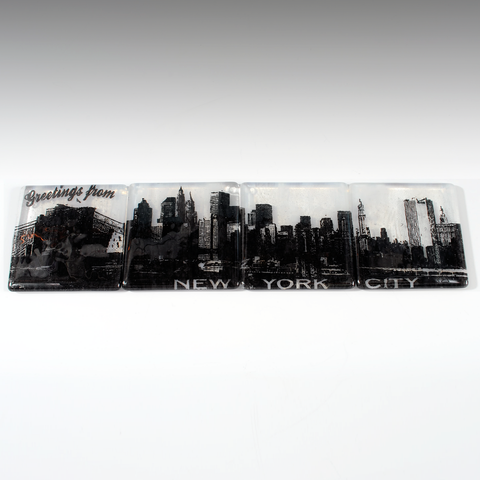 New York City Skyline Coaster 4-Pack MADE TO ORDER