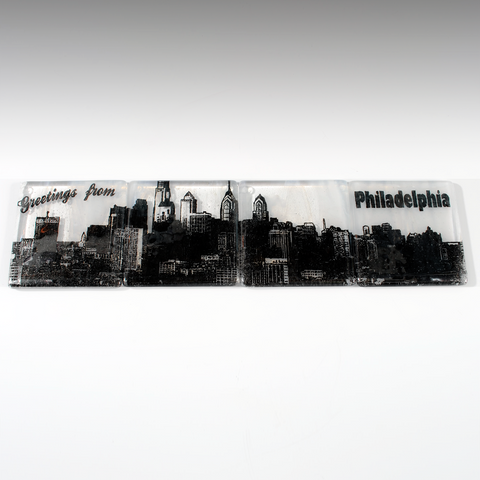 Philadelphia Skyline Coaster 4-Pack MADE TO ORDER