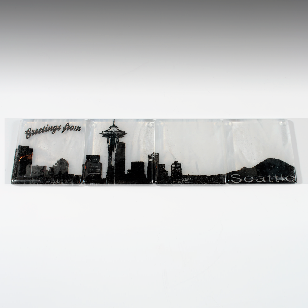 Seattle Skyline Coaster 4-Pack MADE TO ORDER