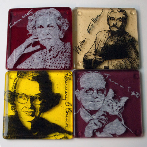 Southern Gothic Writers Coaster 4-pack