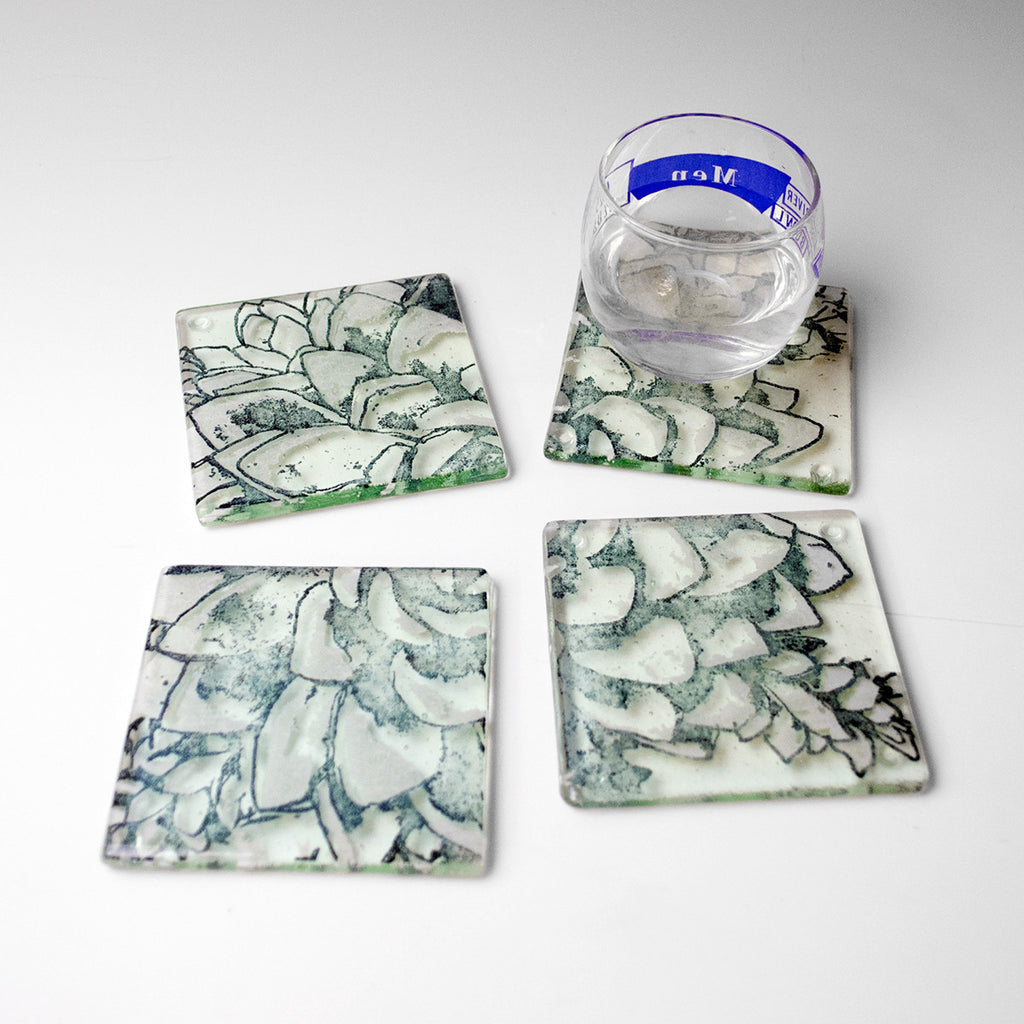 Succulents Coaster 4-pack