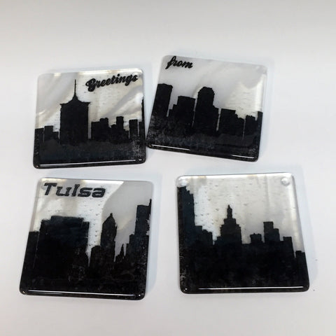 Tulsa Skyline Coaster 4-Pack MADE TO ORDER