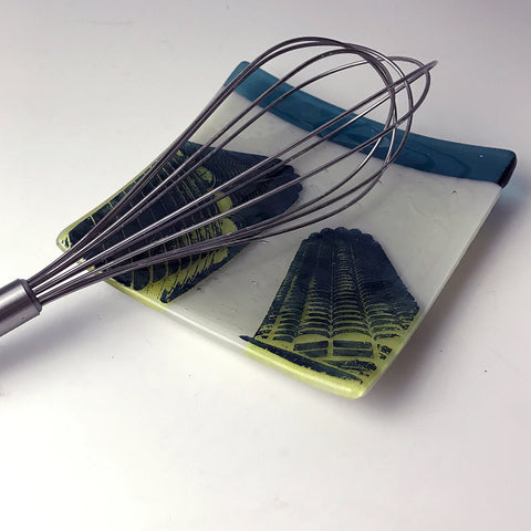 Chicago Marina Towers Fused Glass Catch-all Dish