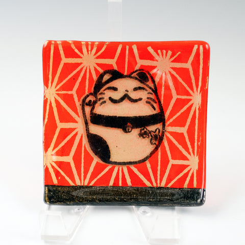Maneki Neko Lucky Cat Catch-all Dish