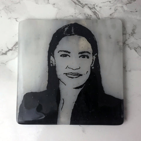 Alexandria Ocasio-Cortez Single Coaster
