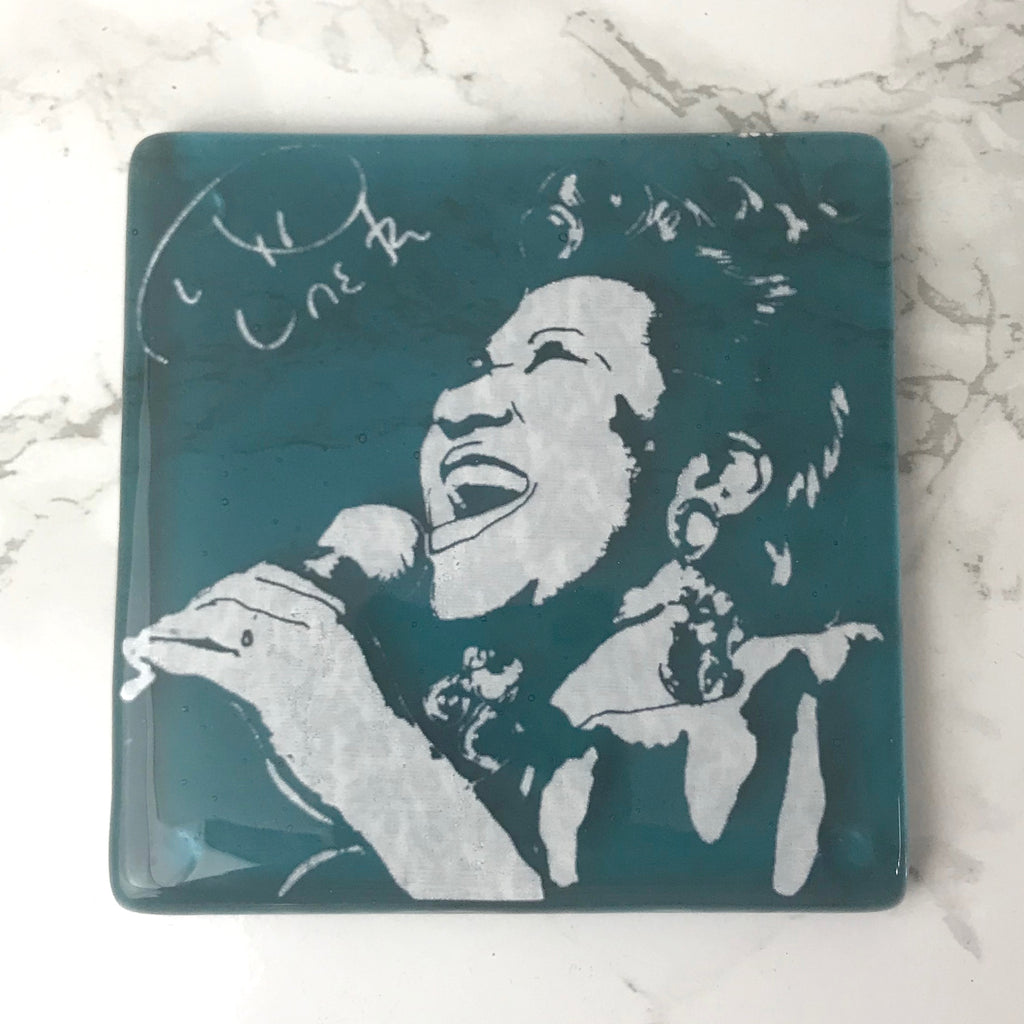 Aretha Franklin Single Coaster