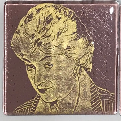 Bea Arthur from the Golden Girls Single Coaster